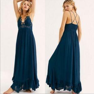 Free People Adella Maxi dress blue